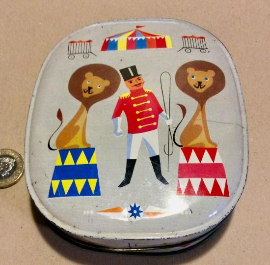 Vintage Edward Sharp & sons Circus toffee tin