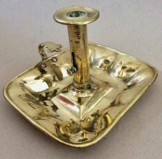 Victorian sheet brass chamberstick