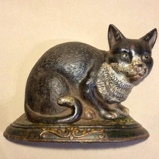 Vintage cast iron cat doorstop