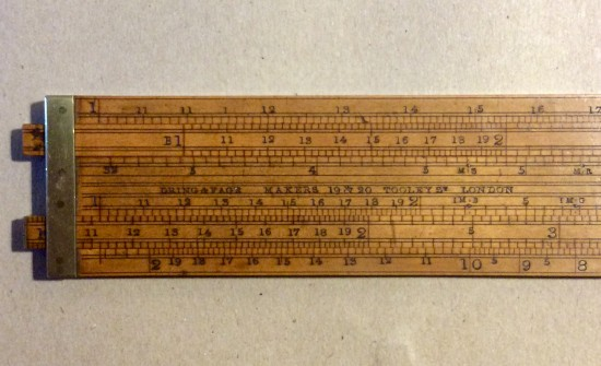 Antique Dring and Fage boxwood Customs and Excise double slide rule.