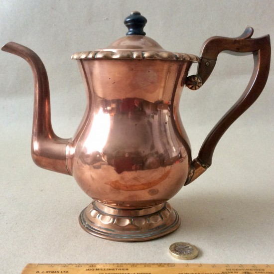 Antique early 19th century copper coffee pot