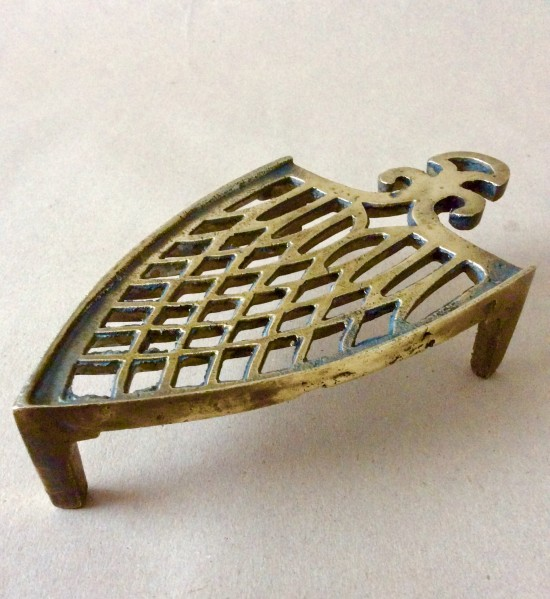 Antique Victorian cast bronze or brass iron stand or trivet