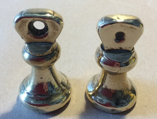 Two Vintage 8Oz brass bell weights