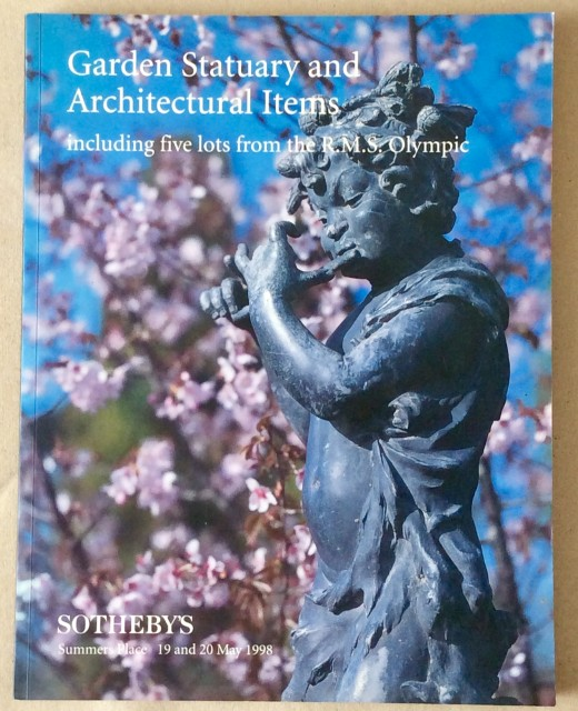Sotheby's catalogue: Garden statuary and Architectural Items. 19/20 May 1998.