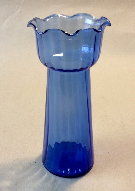 Early 20th century blue glass Hyacinth vase