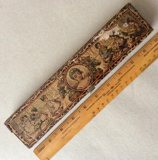 Antique printed wooden pencil box. AMERICAN PENCIL CO No 1231.