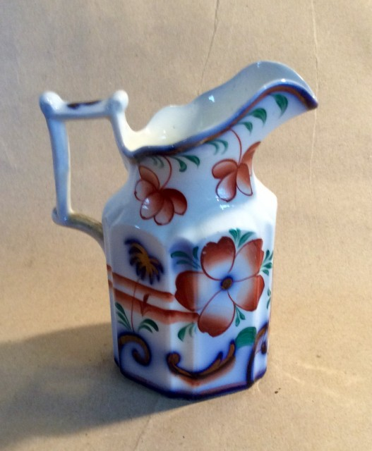 Victorian porcelain cream jug C1845 Kite mark.