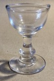 Late Victorian Hand blown clear glass eye bath