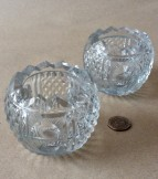 Pair of Regency or William IV Cut glass salts.