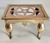 Small sheet brass and copper footman or trivet. C1900