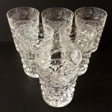 Set of six Stuart Crystal cut glass tumblers. C1950