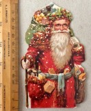 Xmas 1896 Father Christmas magazine card insert advertisement