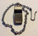 LNWR Brass Railway whistle