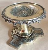 Victorian brass kettle stand