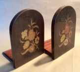 Pair Vintage Sorrento ware folding bookends.