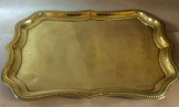 Victorian pressed brass sideboard tray