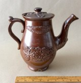 19th century sprigged Stoneware Coffee pot