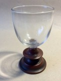 Early 19th century glass goblet with treen repair