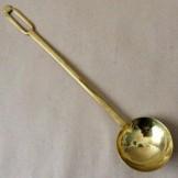 Brass kitchen ladle