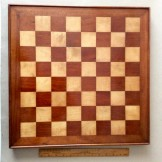 Early 20th century wooden chess board.