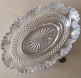 Regency cut glass oval serving or centrepiece dish