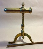 Brass goffering Iron tripod base c1850.