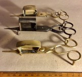 19th century metalware candle snuffers/wick trimmers