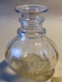Small cut glass two ring carafe