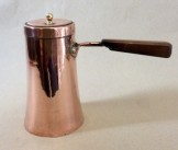 Copper chocolate pot and cover