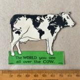 Nestle's Advertising 'World Cow' Card insert