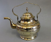Dutch brass kettle with swing handle