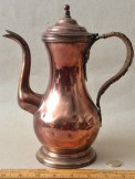 Rare Tall Copper coffee pot with strap handle