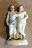 German porcelain figure Siam twins
