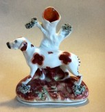 Staffordshire hunting dog figure