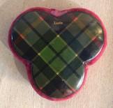 Tartanware trefoil pin cushion
