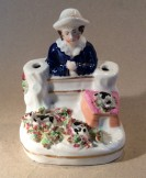 Staffordshire pottery pen holder