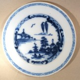 B/w Delft plate possibly Liverpool