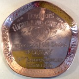 1930 'Teachers Highland Cream'  Copper advertising tray