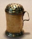 18th century brass flour dredger