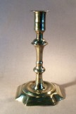 Seamed brass single candlestick