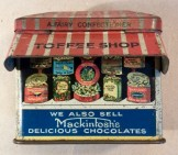 Rare Mackintosh's figural toffee shop tin c1920