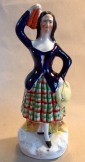Staffordshire figure of a Scots dancing girl