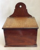 Early 19c mahogany salt or candle box