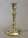 18th century seamed brass candlestick