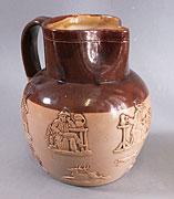 Doulton Lambeth Sprigged jug