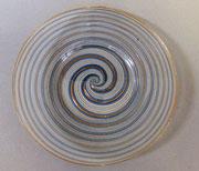 Venetian spiral glass plate