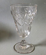 Victorian cut glass celery vase