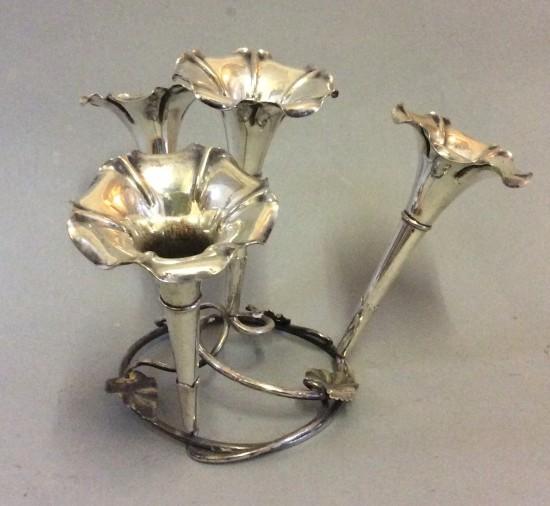 Antique Silver Plate Art Nouveau Epergne