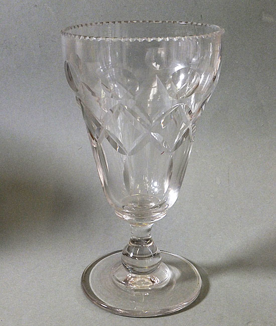Antique Victorian Cut Glass Celery Vase