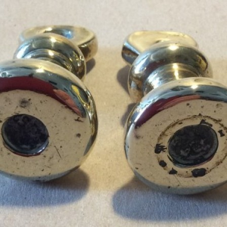 Detail: Two Vintage 8Oz brass bell weights